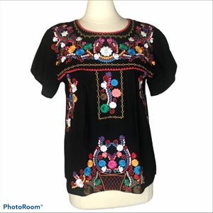 Mexican Embroidered Top Sz M